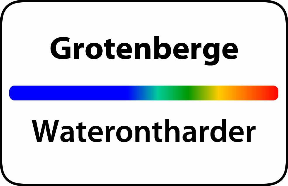 Waterontharder Grotenberge