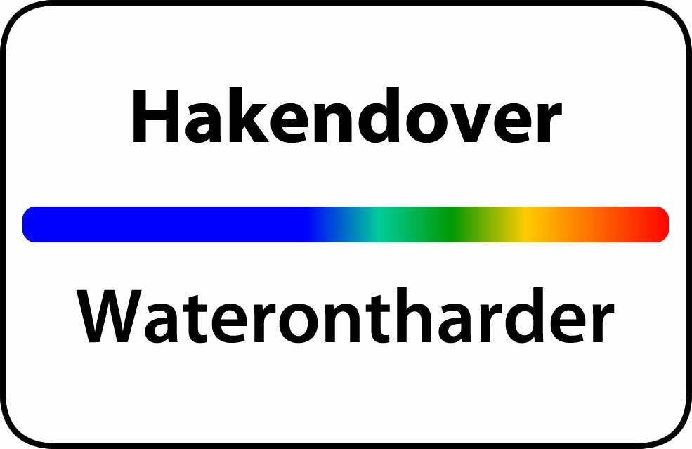 Waterontharder Hakendover