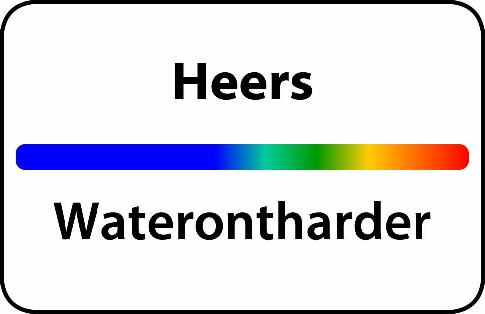 Waterontharder Heers