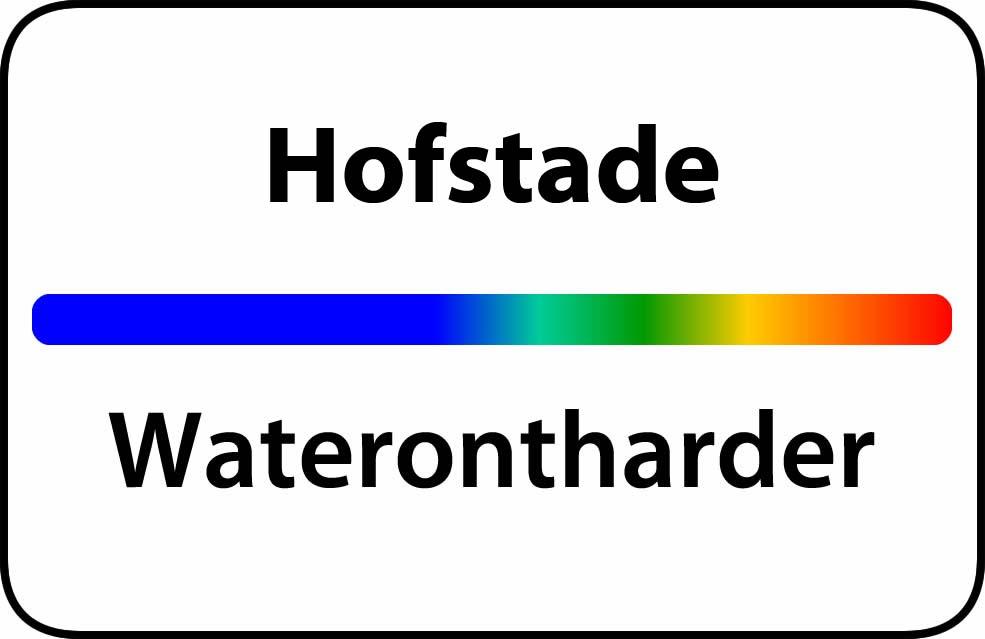 Waterontharder Hofstade