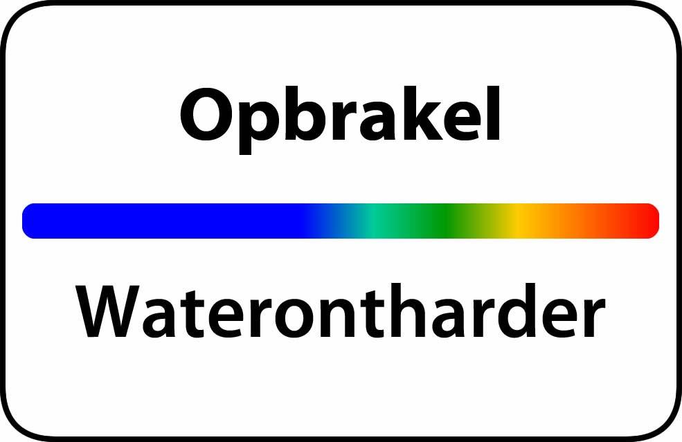 Waterontharder Opbrakel