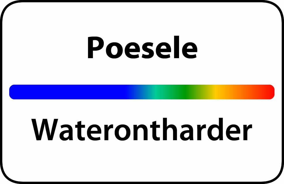 Waterontharder Poesele