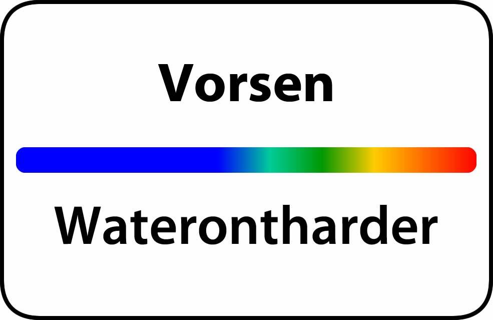 Waterontharder Vorsen