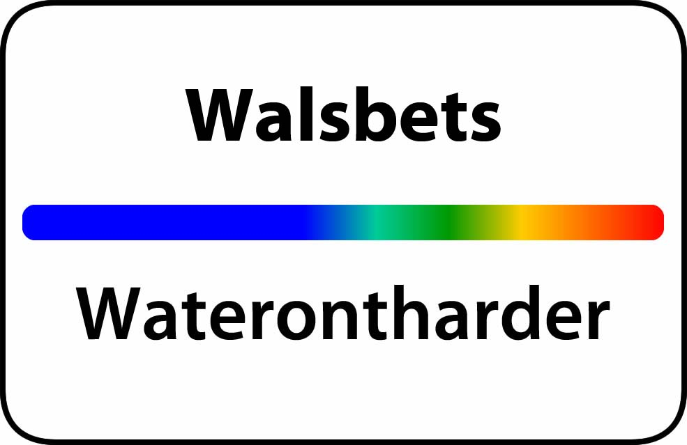 Waterontharder Walsbets