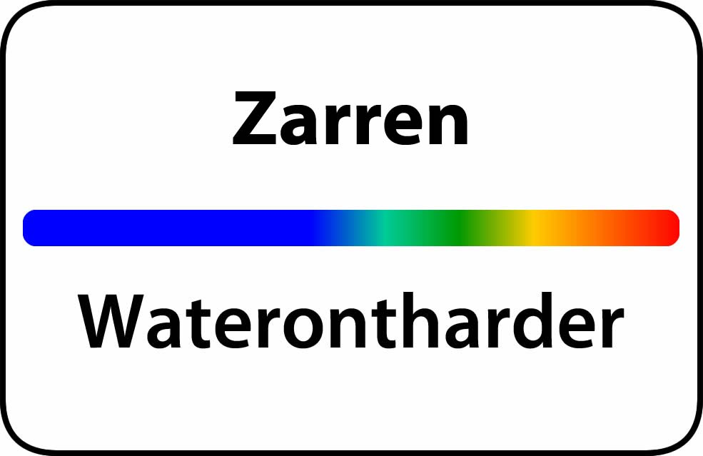 Waterontharder Zarren